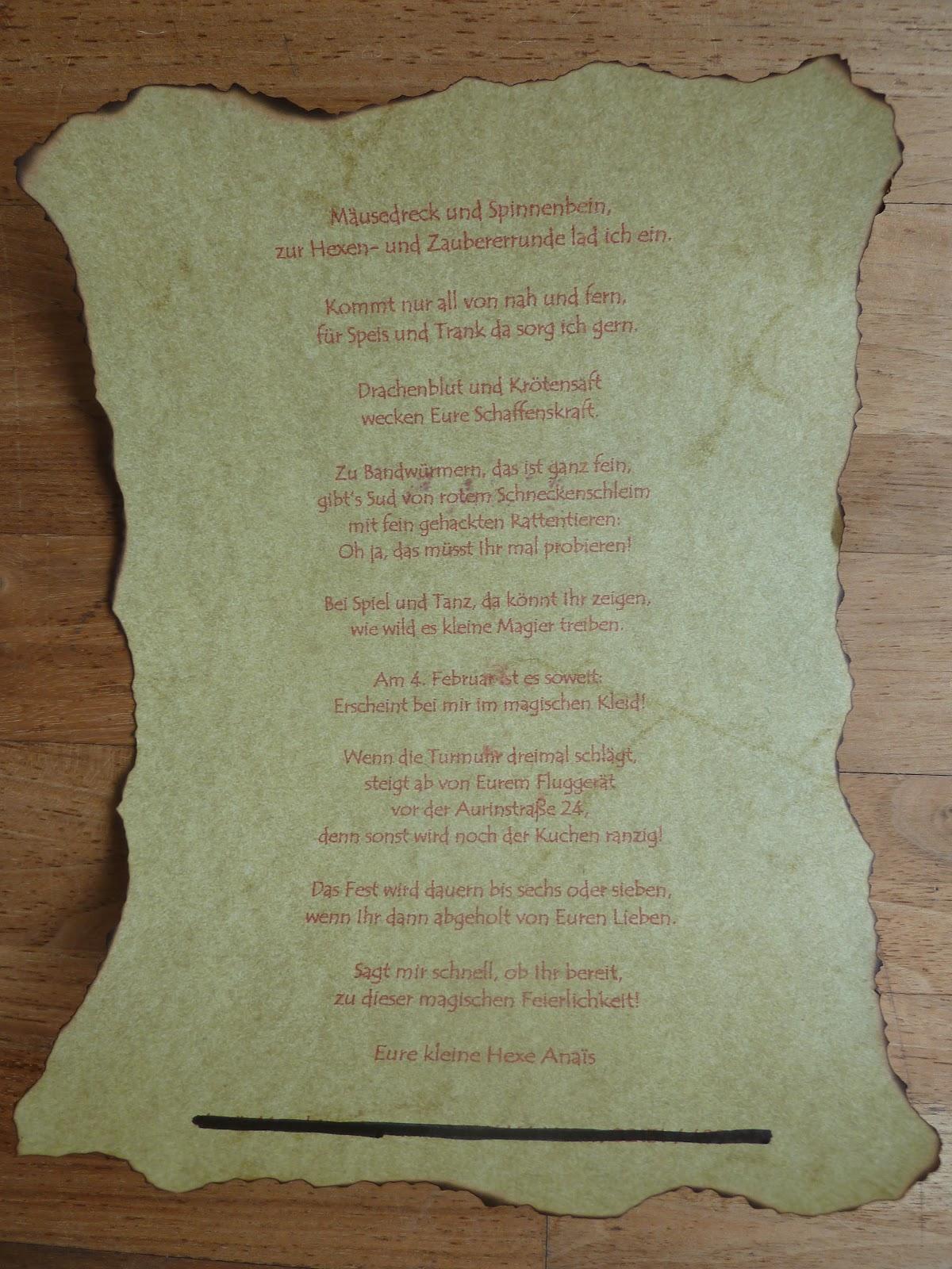 Überall & nirgendwo: hexen und zauberer geburtstagseinladungen