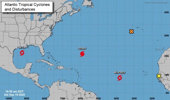 Se forman tormentas Alfa y Beta, llamadas así porque se agotaron los nombres previstos