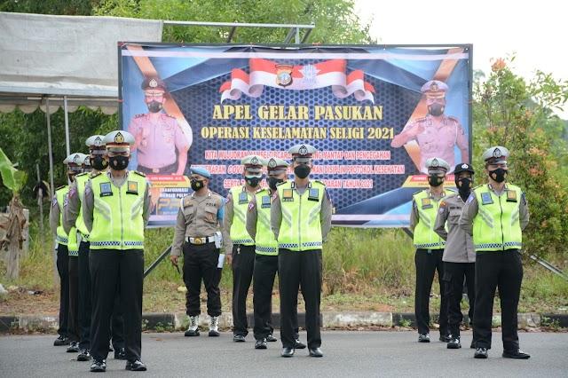 Polda Kepri Gelar Pasukan Operasi Keselamatan Seligi Tahun 2021