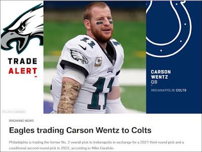Wentz Traded To Indianapolis