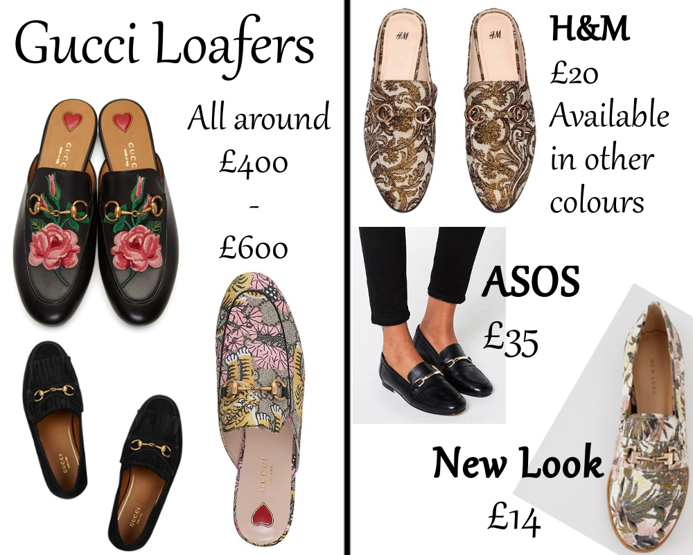 329eecdb110 Above you can see a lil collage I ve put together comparing Gucci loafers  on the left