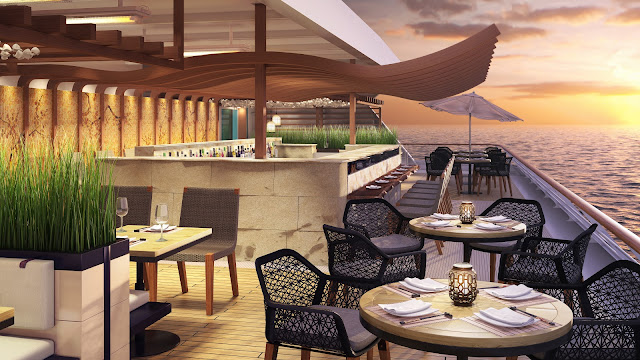 The new Pan Asian restaurant will offer a blend of Chinese, Japanese, Korean and Thai cuisine amidst al fresco dining setting at sea.