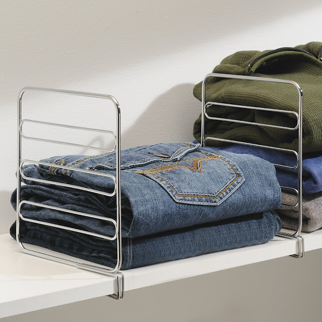 a great idea for shelf dividers