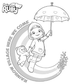 Gambar Rainbow Ruby Untuk Mewarnai