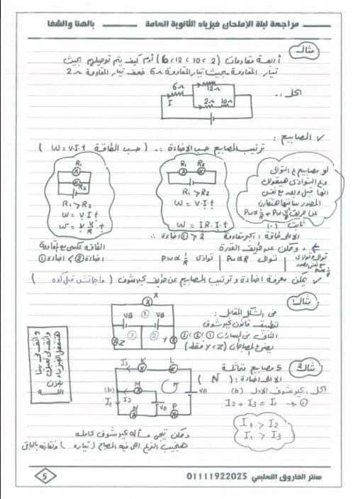 مراجعة فيزياء ثالثة ثانوي | نظام جديد 5
