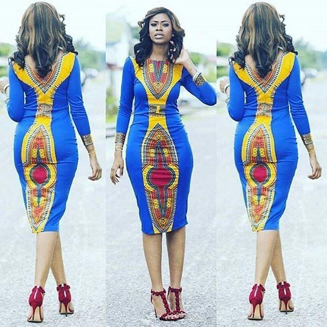 Simple Ankara Gown Design for Ladies