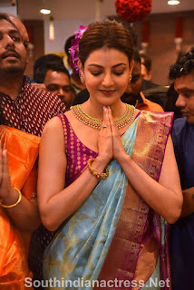 indian 2 tamil movie actress kajal agarwal grand launch of vidhatri shopping mall event Pictures 7