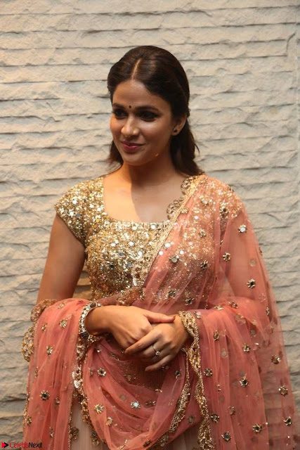 Lavanya Tripathi Mesmerizing Beauty in Chania Choli At Vunnadi Okate Zindagi Movie ~  Exclusive 001.jpg