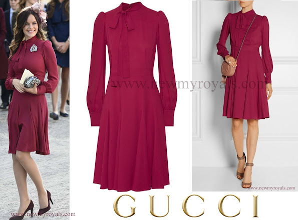 Princess Sofia of Sweden wore GUCCI Silk crepe dress
