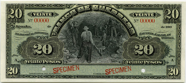 Mexico money currency 20 Pesos banknote bill