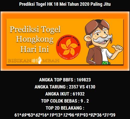 Prediksi Togel Hongkong Senin 18 Mei 2020 - Bisikan Mbah