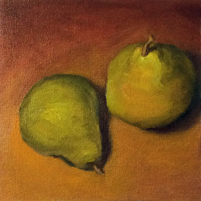 G Sivitz, oil painting, pears