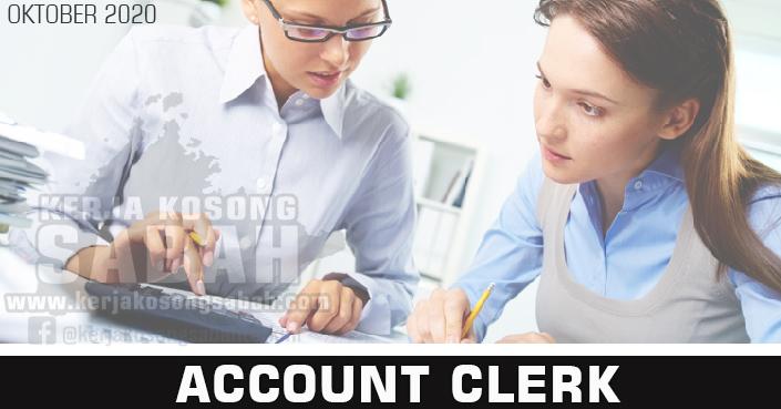 Kerja Kosong Sabah 2020 | Account Clerk
