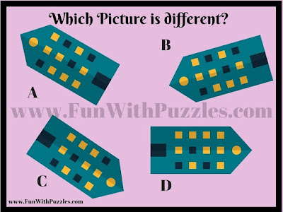 Odd One Out Visual Puzzle