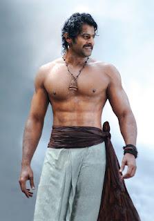 Prabhas six pack body in Baahubali movie