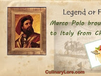 Marco Polo travel notes related to noodles