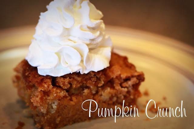 Recipes Found On Facebook Pumpkin Crunch