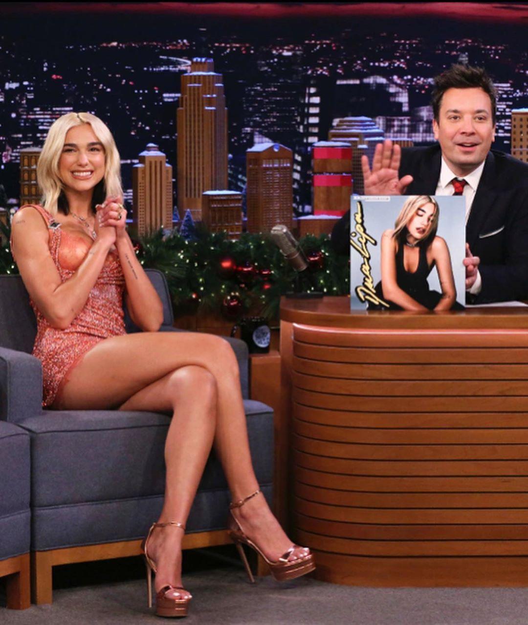 Dua Lipa on the Tonight Show with Jimmy Fallon