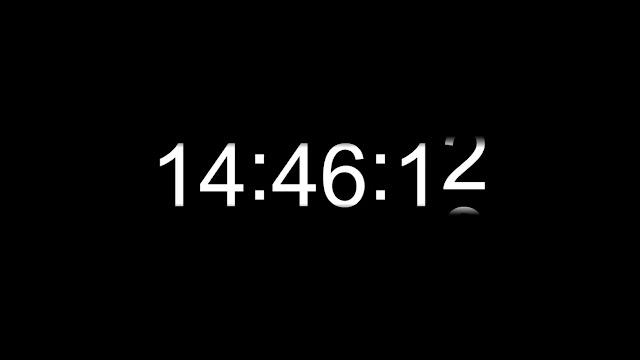 Responsive Digital Wall Clock