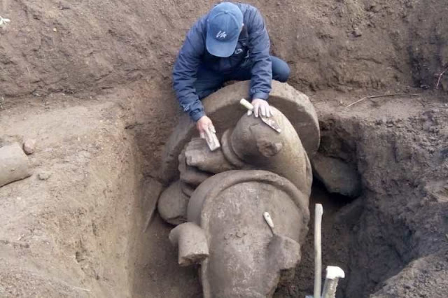 Large Ganesha statue unearthed in central Java