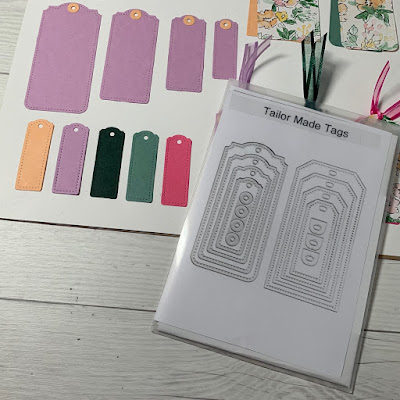 Tailor Made Tags Dies from Stampin' Up! Samples