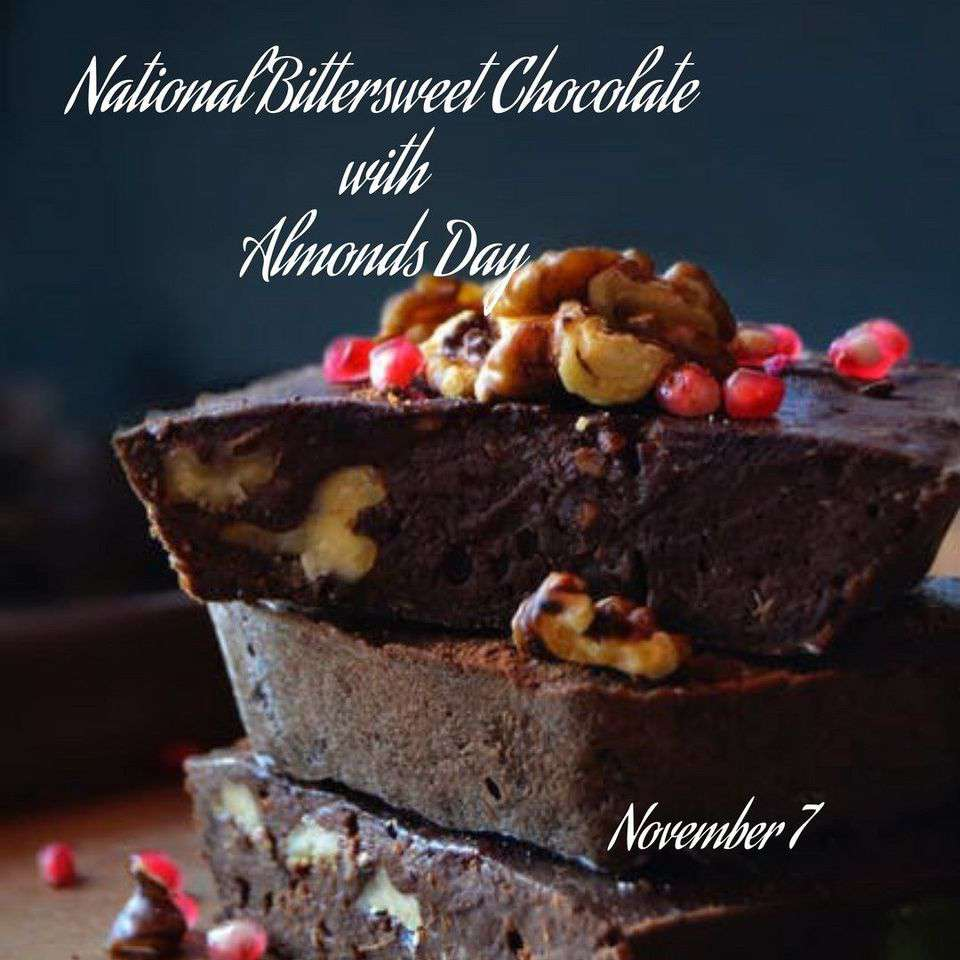 National Bittersweet Chocolate with Almonds Day Wishes Lovely Pics