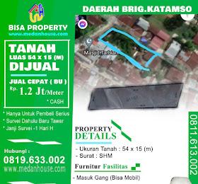 Dijual Tanah di daerah Jl.Brigjen Katamzo / Brigjen Zein Hamid (masuk gang , bisa masuk mobil.) <del>Rp 1.7 Juta /Meter </del> <price> SOLD / TERJUAL</price> <code>TANAHKATAMSO-1</code>