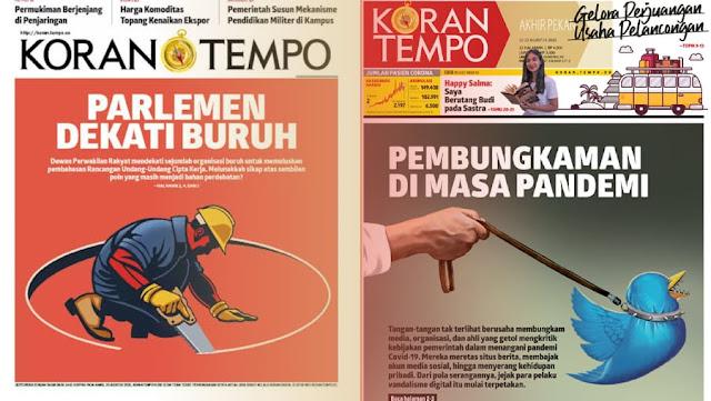 Pemred Tempo.co Duga Peretasan Terkait Kritik Omnibus Law RUU Cipta Kerja