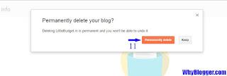 Delete blogspot permanently