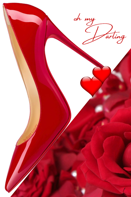 Christian Louboutin Kate hot red pointed toe patent leather calfskin high heel pumps #brilliantluxury