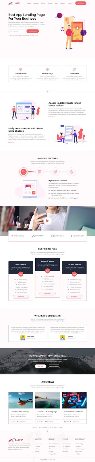 Landing Page Website Template