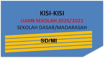 Kisi-Kisi Soal Ujian Sekolah Dasar 2021