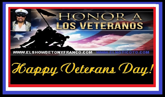 WE HONOR OUR VETERANS THANK YOU FOR YOUR GREAT SERVICE!