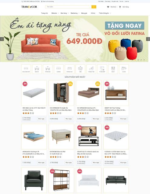 Template blogspot bán hàng đẹp chuẩn seo