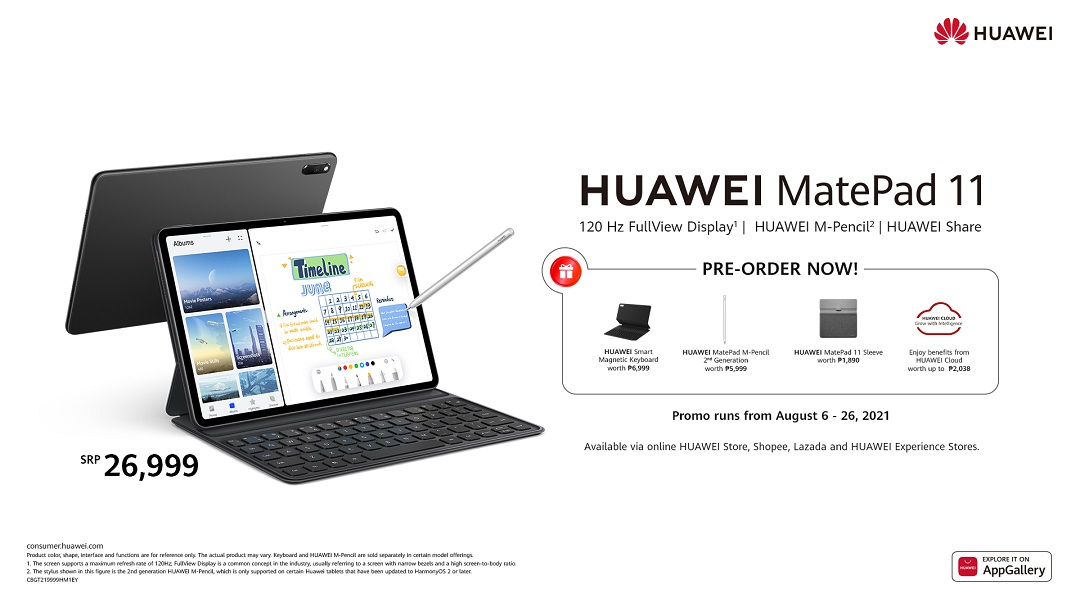 Huawei MatePad 11 with M-Pencil 2nd Gen now in Pre-order