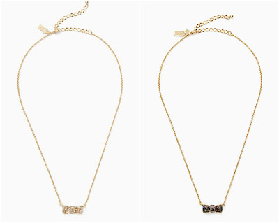 Kate Spade Moon River Glitter Pendant Necklace $19 (reg $68)