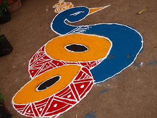 pongal rangoli drawing