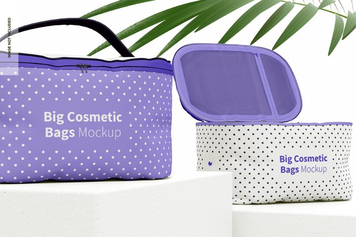 Big Cosmetic Bags Mockup