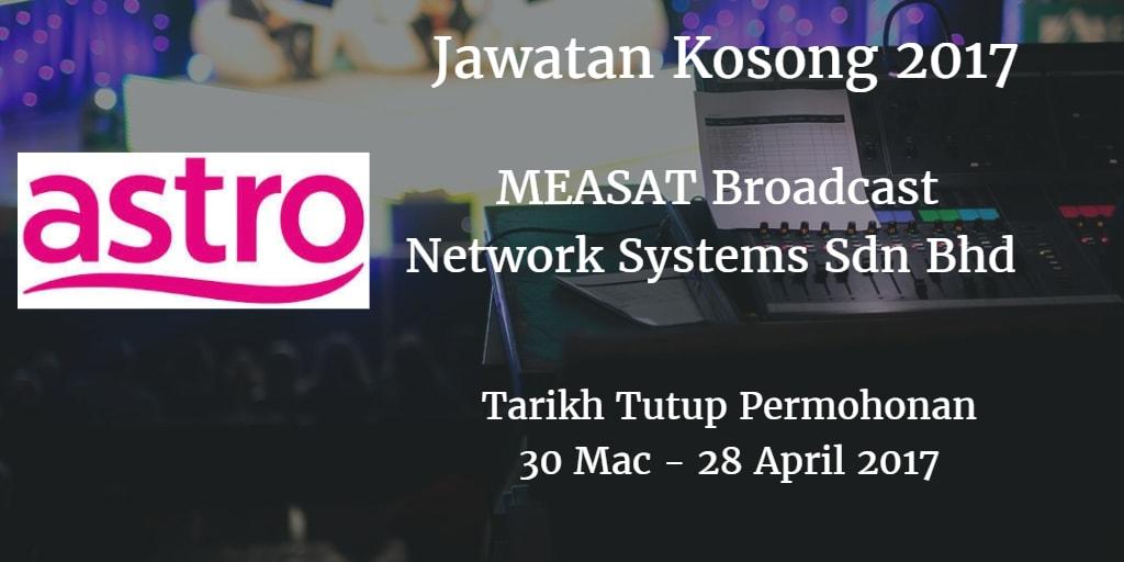 Jawatan Kosong Astro 30 Mac - 28 April 2017