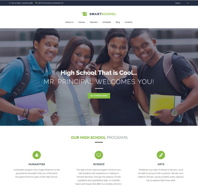Smart School - Tema wordpress untuk Perguruan Tinggi (Universitas)