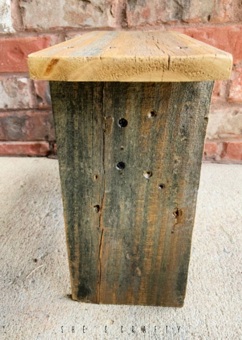 Weathered Wood made into a step stool.