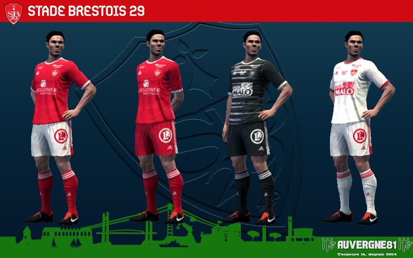 Kits Stade Brestois 2021-2022 For PES 2013