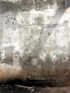 graffiti 2 homme debout bras étendus