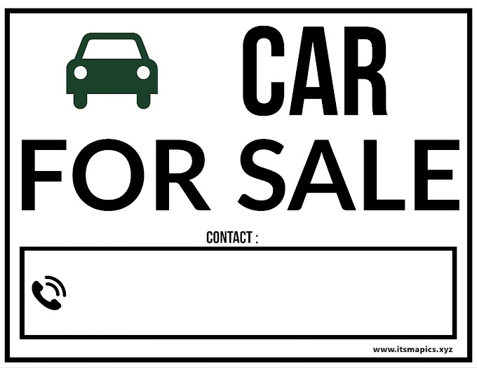 Printable Car for Sale Sign Templates