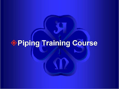 Piping Training Course ,overview of process plant piping system,piping component,piping drawing,piping design ,piping work ,codes and standard, Elbows,reducers,branches,connections,flnges,ball valve,gate valve,check valve,globe valve,needle valve,pinch valve,relief valve and plug valve,pipe support,expansion joints