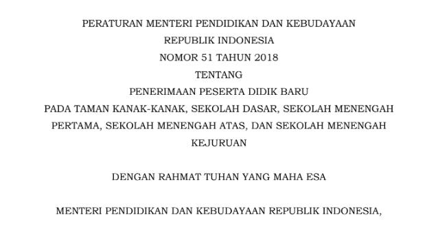 Juknis PPDB Tahun 2019/2010
