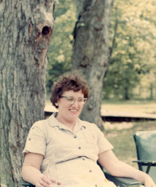 Mom at Conway Robinson Park, early 1960's