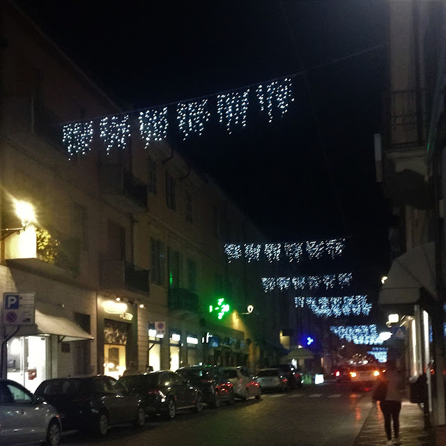 Christmas lights in castel san giovanni