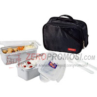 Lock & Lock Lunch Box Set 2P Black HPL762DB