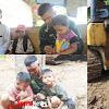 Anggota Satgas TMMD Ke-105 Biasakan Anak Anak Bergaul Dengan Tentara